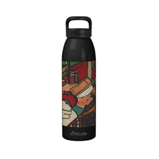 TEE Book Worm Reusable Water Bottle