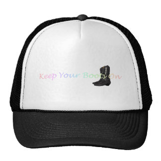 TEE Boots On Mesh Hat