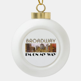 TEE Broadway Star Ceramic Ball Christmas Ornament