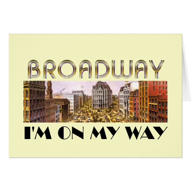TEE Broadway Star Greeting Card
