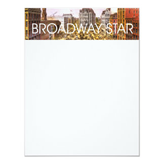 TEE Broadway Star Custom Invitations