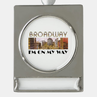 TEE Broadway Star Silver Plated Banner Ornament