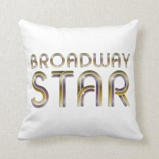 TEE Broadway Star Throw Pillow