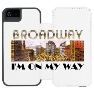 TEE Broadway Star Wallet Case For iPhone SE/5/5s