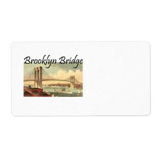 TEE Brooklyn Bridge Shipping Label