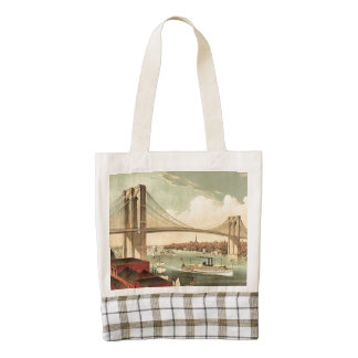 TEE Brooklyn Bridge Zazzle HEART Tote Bag