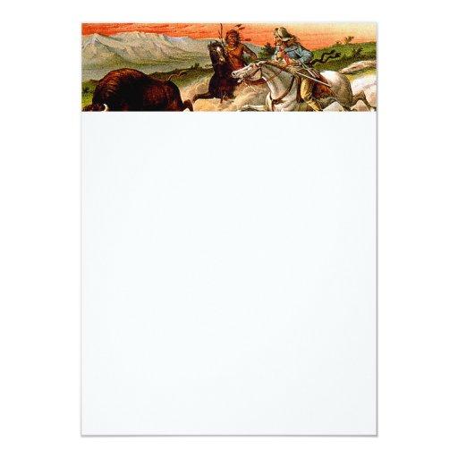 TEE Buffalo Chase 5x7 Paper Invitation Card