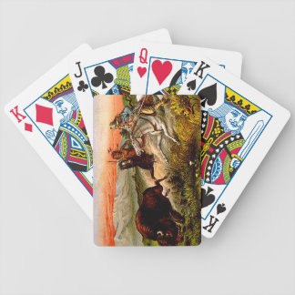 TEE Buffalo Chase Bicycle Playing Cards