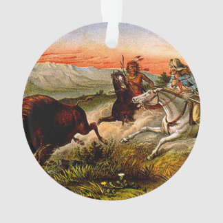 TEE Buffalo Chase Ornament