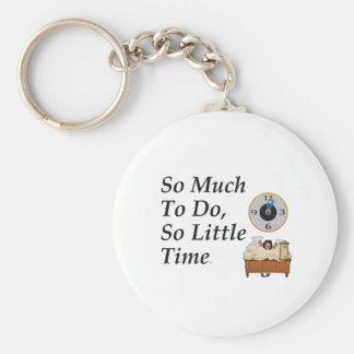 TEE Busy Time Basic Round Button Keychain