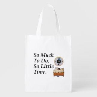 TEE Busy Time Reusable Grocery Bag