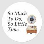 TEE Busy Time Round Stickers