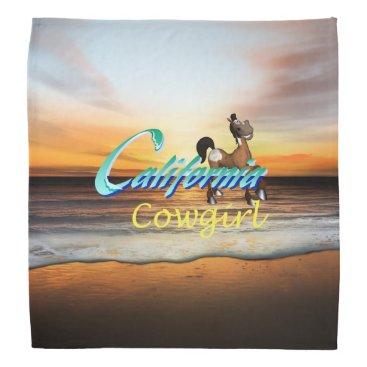 Beach Themed TEE California Cowgirl Bandana