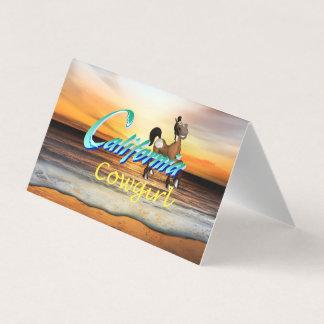TEE California Cowgirl Business Card
