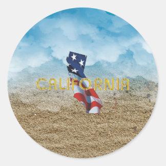 TEE California Patriot Classic Round Sticker
