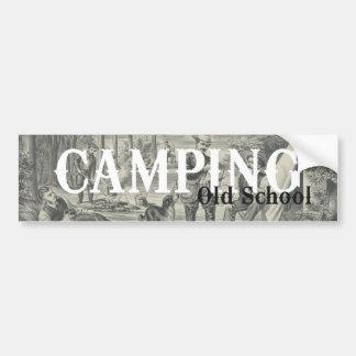 TEE Camping Old School Bumper Sticker