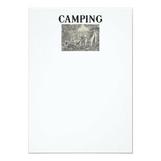 TEE Camping Old School Card