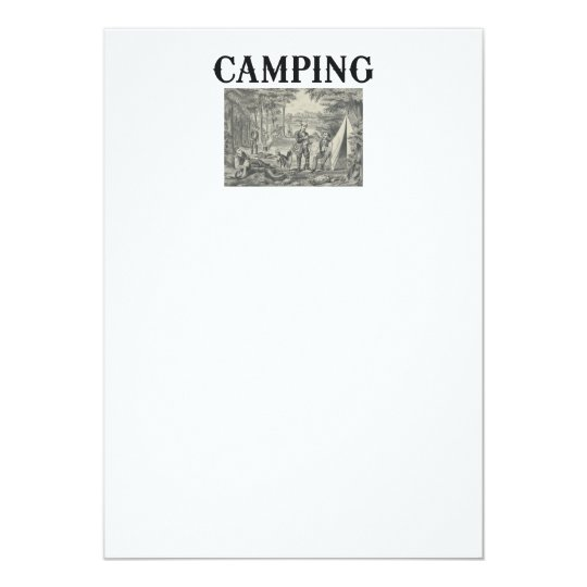 TEE Camping Old School Card