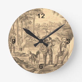 TEE Camping Old School Round Wall Clock