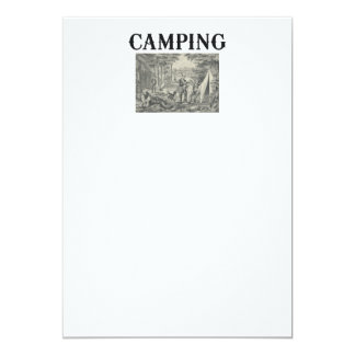 TEE Camping Old School 5x7 Paper Invitation Card