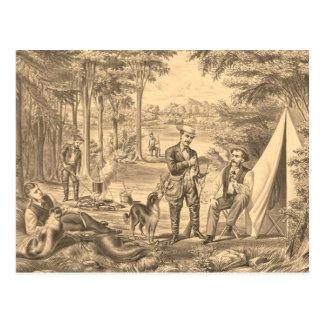 TEE Camping Old School Postcard
