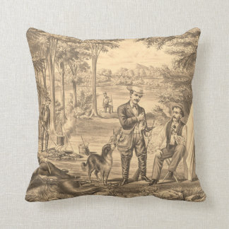 TEE Camping Old School Throw Pillow