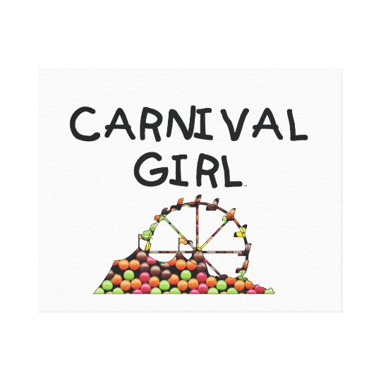 TEE Carnival Girl Canvas Print