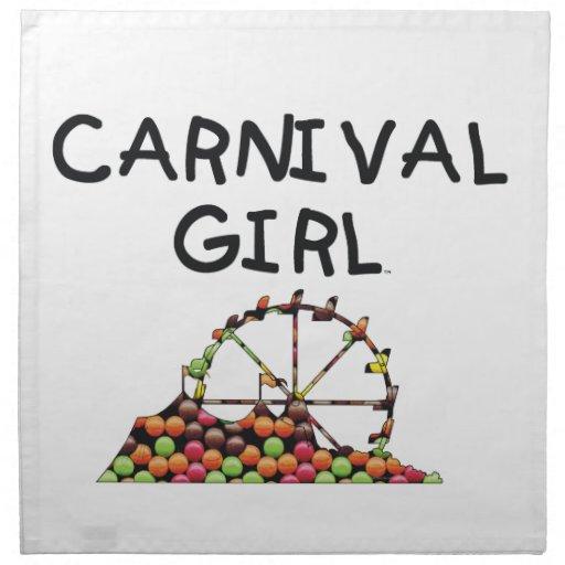 TEE Carnival Girl Cloth Napkin