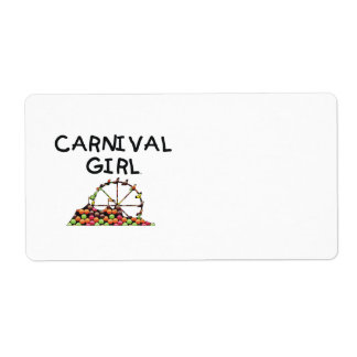 TEE Carnival Girl Custom Shipping Labels
