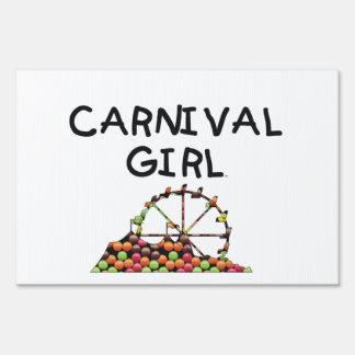 TEE Carnival Girl Sign