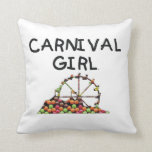 TEE Carnival Girl Throw Pillow
