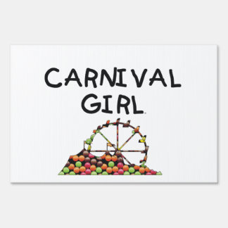 TEE Carnival Girl Lawn Signs