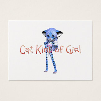 TEE Cat Kind of Girl Business Card