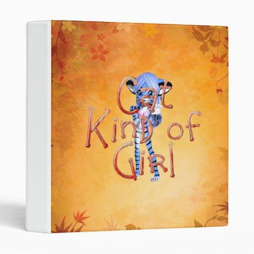 TEE Cat Kind of Girl Vinyl Binder