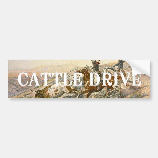 TEE Cattle Drive Bumper Sticker