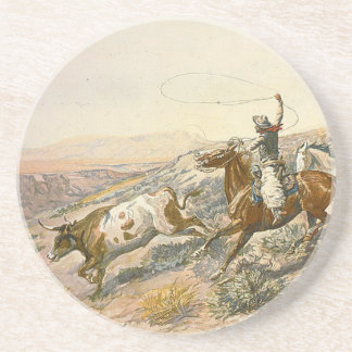 TEE Cattle Drive Drink Coaster