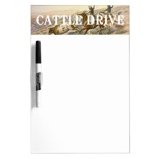 TEE Cattle Drive Dry Erase Board