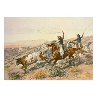 TEE Cattle Drive Large Business Card