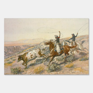 TEE Cattle Drive Lawn Sign