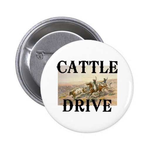 TEE Cattle Drive Pinback Buttons