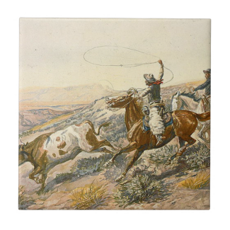TEE Cattle Drive Small Square Tile
