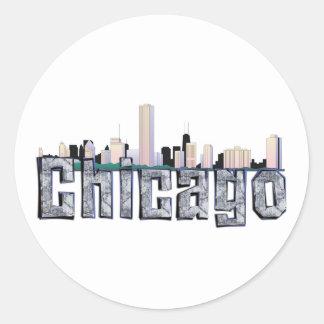 TEE Chicago Classic Round Sticker