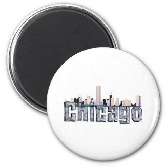 TEE Chicago 2 Inch Round Magnet