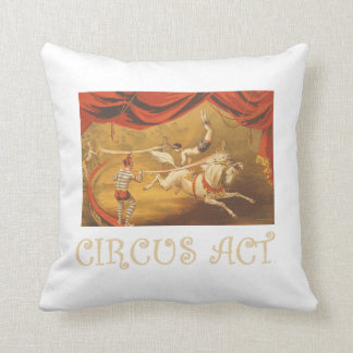 TEE Circus Act Throw Pillow