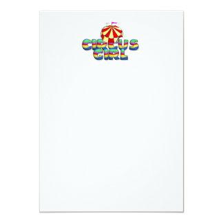 TEE Circus Girl 5x7 Paper Invitation Card