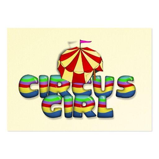 TEE Circus Girl Large Business Card