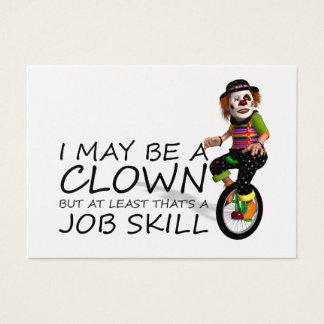 TEE Clown Job Business Card