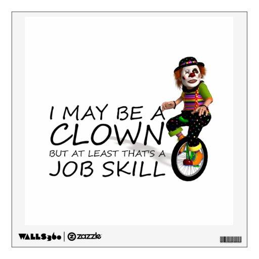 TEE Clown Job Room Decal