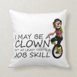 TEE Clown Job Throw Pillows