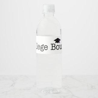 TEE College Bound Water Bottle Label